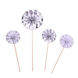 Silver Pinwheels - Cake topper - Miss Decorate