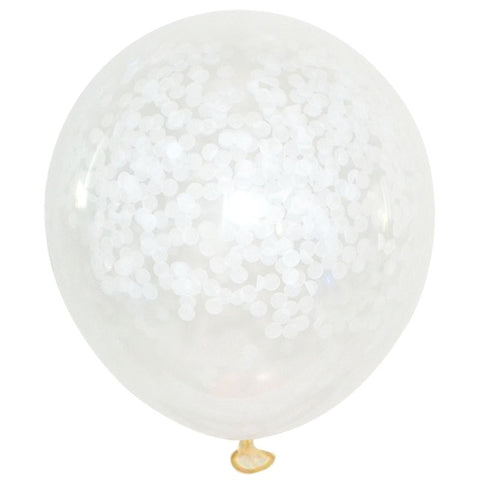 Large White Confetti Balloons - Miss Decorate