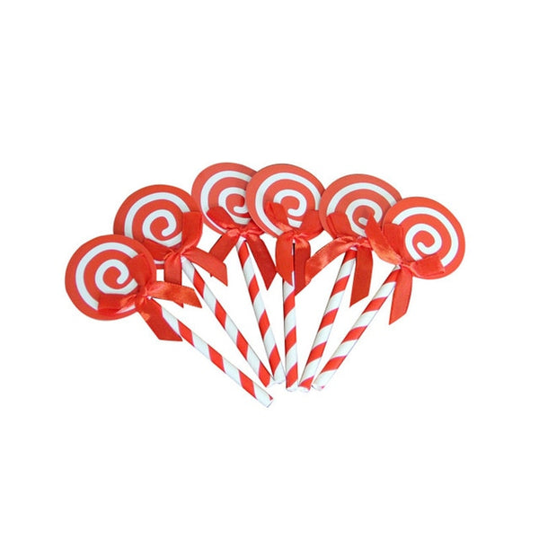 Red Lollipop - Cake Topper - Miss Decorate