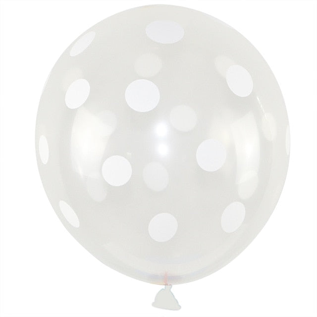White Polka Dot - Transparent - Miss Decorate