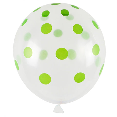 Green Polka Dot - Transparent - Miss Decorate