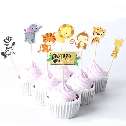 Wild Animals - Cake Toppers - Miss Decorate