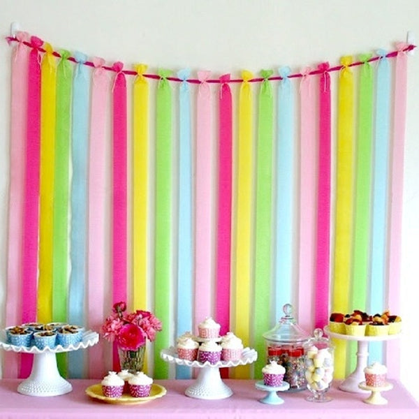 Crepe Paper Streamers - 14 colors - Miss Decorate