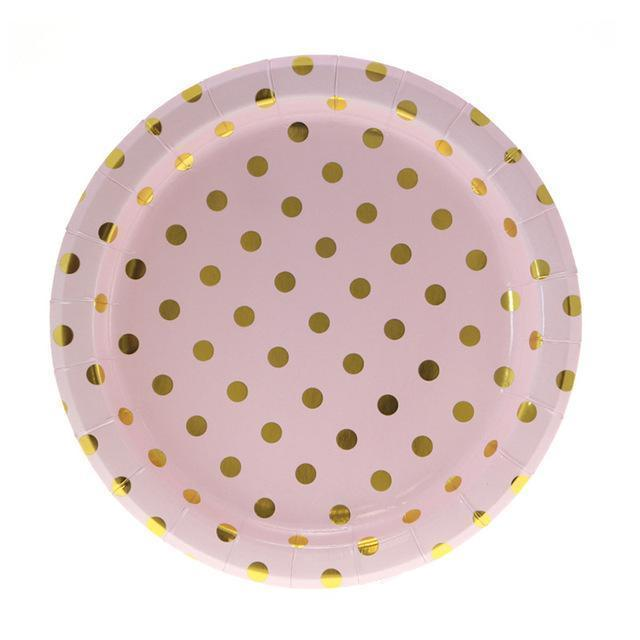 Pink Gold - Plates - Miss Decorate