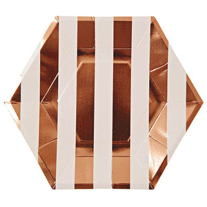 Rose Gold Stripes - Plates - Miss Decorate