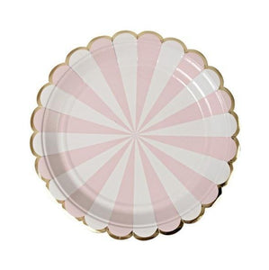 Pink Pinwheel - Plates - Miss Decorate