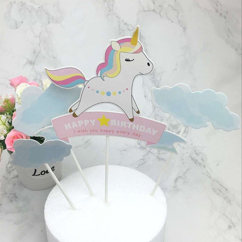 Happy Unicorn - Cake Topper - Miss Decorate