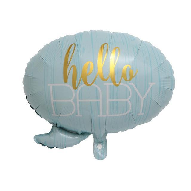 Blue Hello Baby - Balloon - Miss Decorate