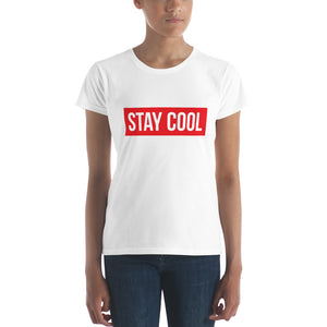 """STAY COOL"" Women's short sleeve t-shirt"