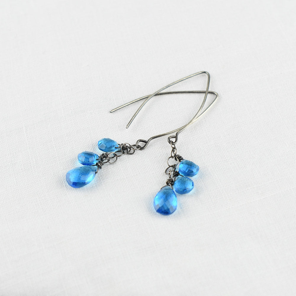 London Blue Topaz sterling silver earring