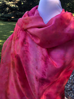 Ice Dyed Lightweight Paj Silk Scarf/Shawl