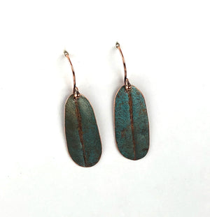 Recycled Copper Earrings!