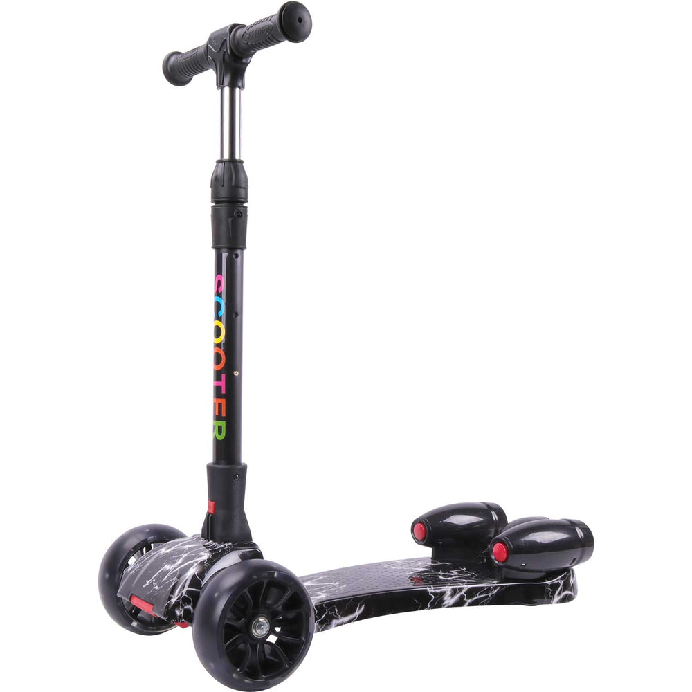 Mega Motion Kids Three Wheels Kick Scooter with multi-color steam effect