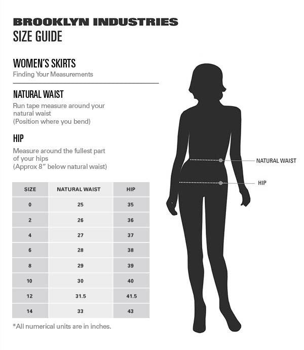 Women's Skirt Sale Size Chart