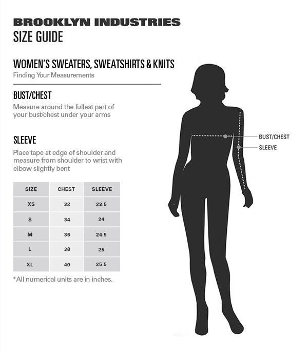 Women's Sweater Sale Size Chart