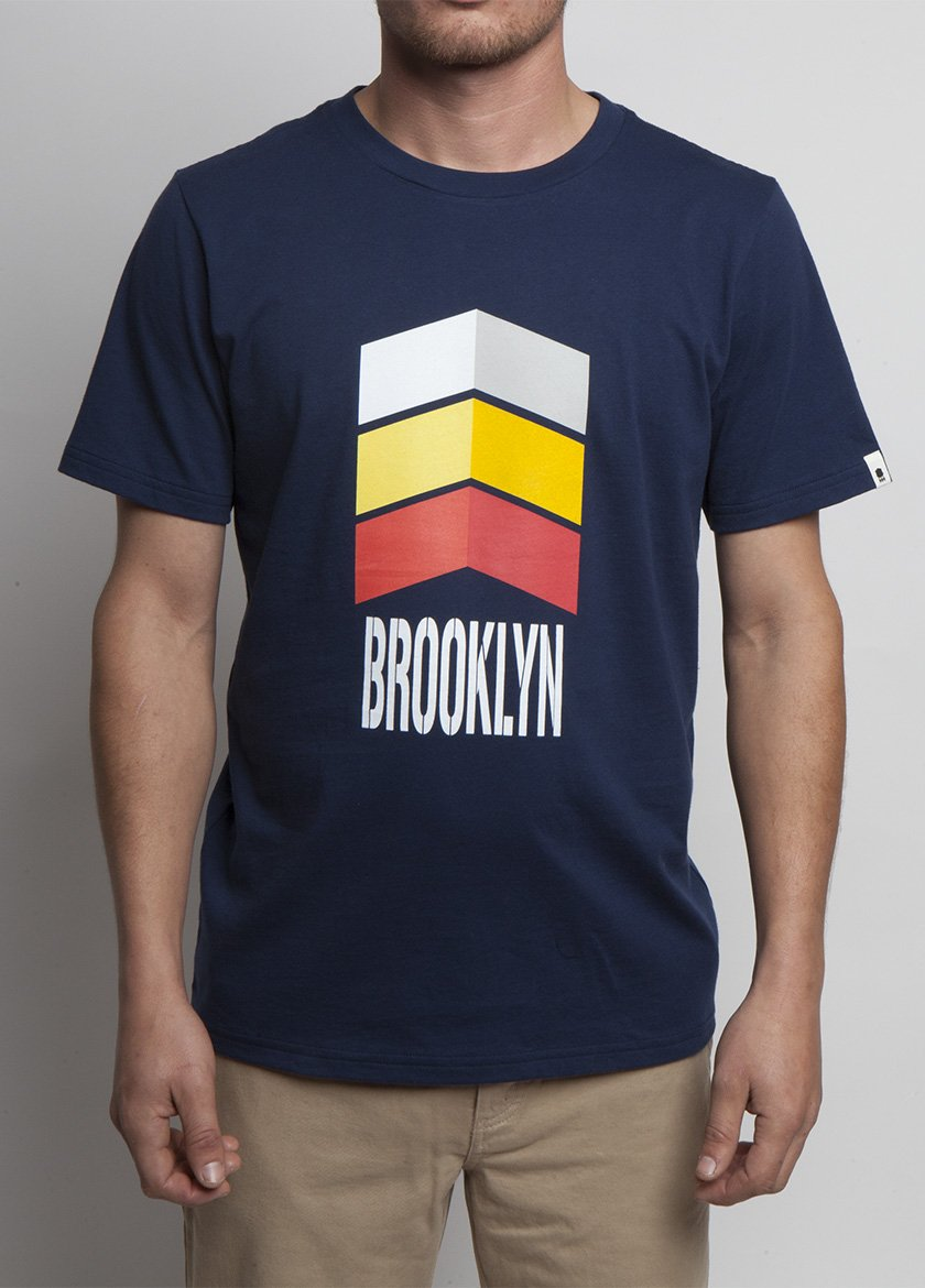 Arrows T-shirt on Organic Navy Body Frontal View