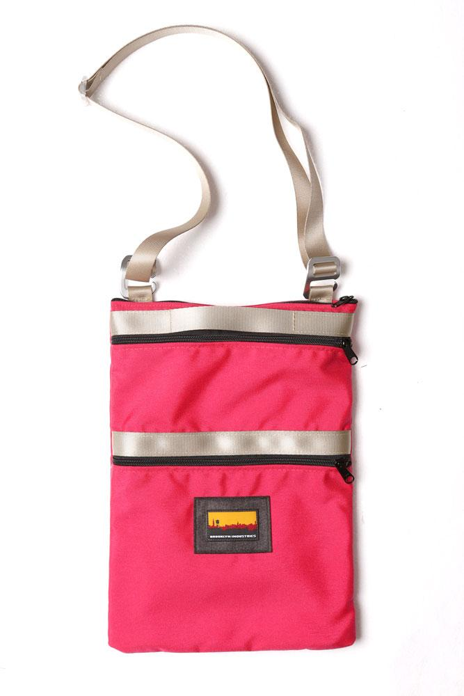 13'' HOT PINK LAPTOP BAG , FLAT LAY FRONT VIEW