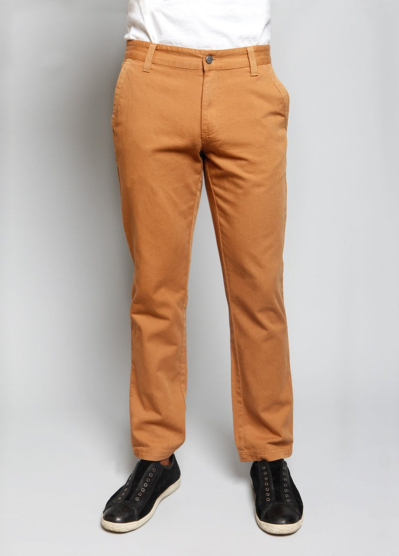 MENS PANT IN A TOAST COLOR FRONT VIEW