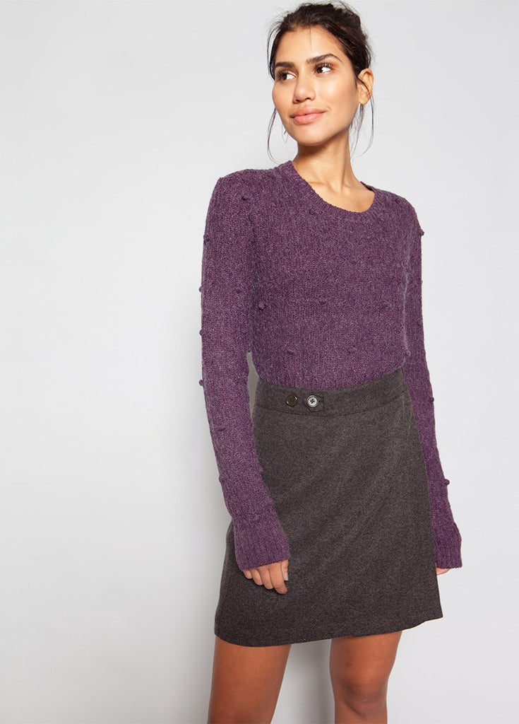 PEARL SWEATER WITH BOBBLES W - BROOKLYN INDUSTRIES