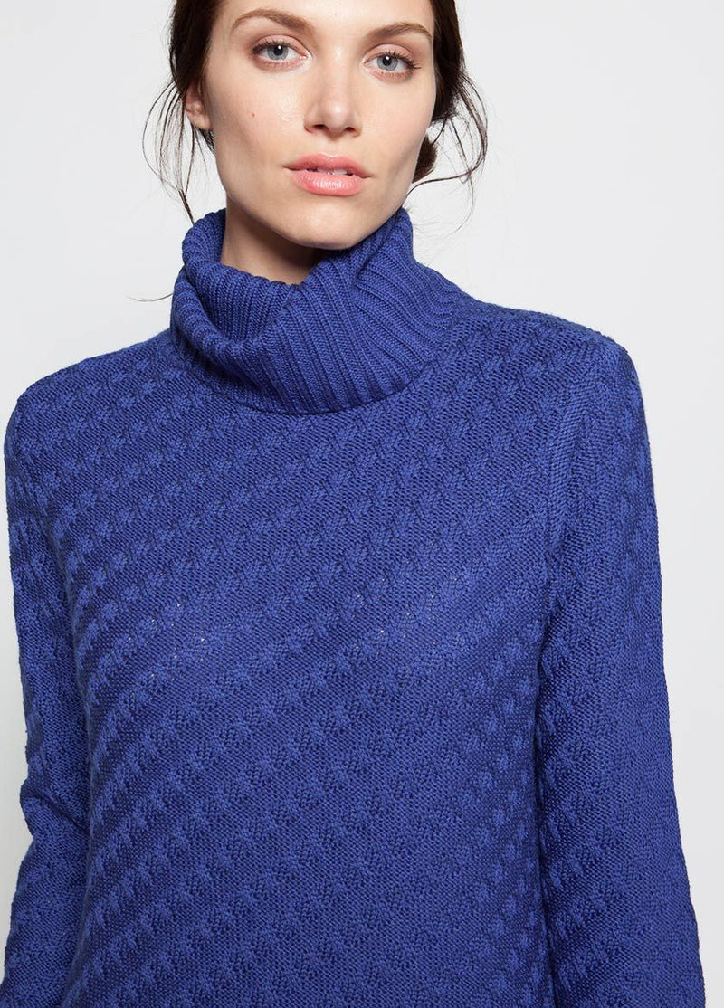 WOMEN IN  SODALITE BLUE JELENA FUNNEL NECK SWEATER