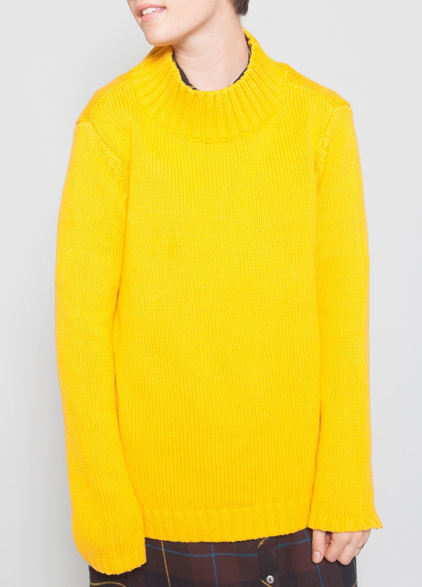 ASHBURY MOCK NECK GOLDEN ROD - BROOKLYN INDUSTRIES