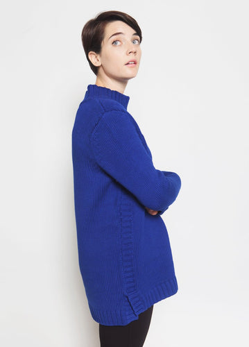 Ashbury Mock Neck Sweater Side View Model