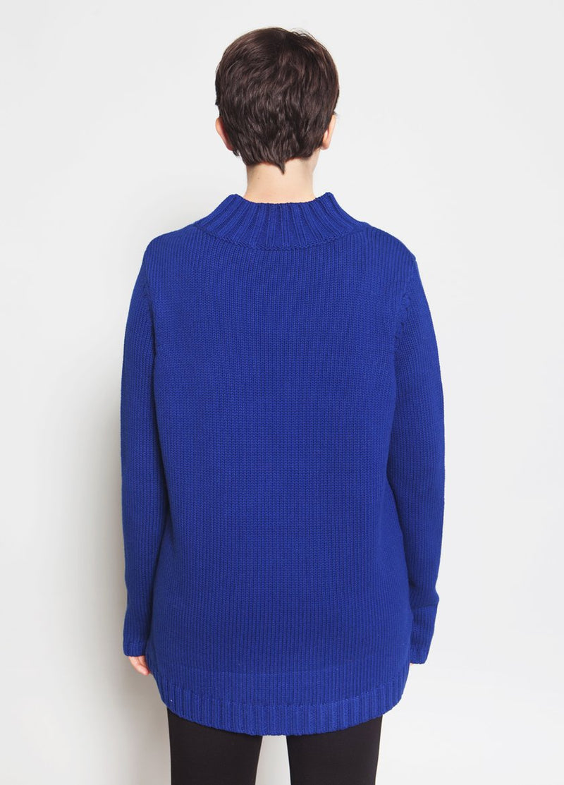 Ashbury Mock Neck Sweater Female Model Back View