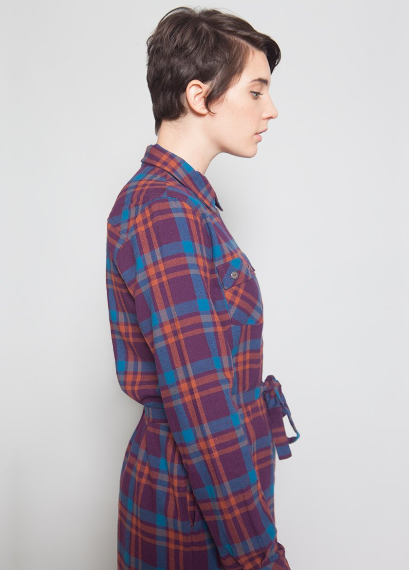 PLAID CEDAR SHIRTDRESS W - BROOKLYN INDUSTRIES