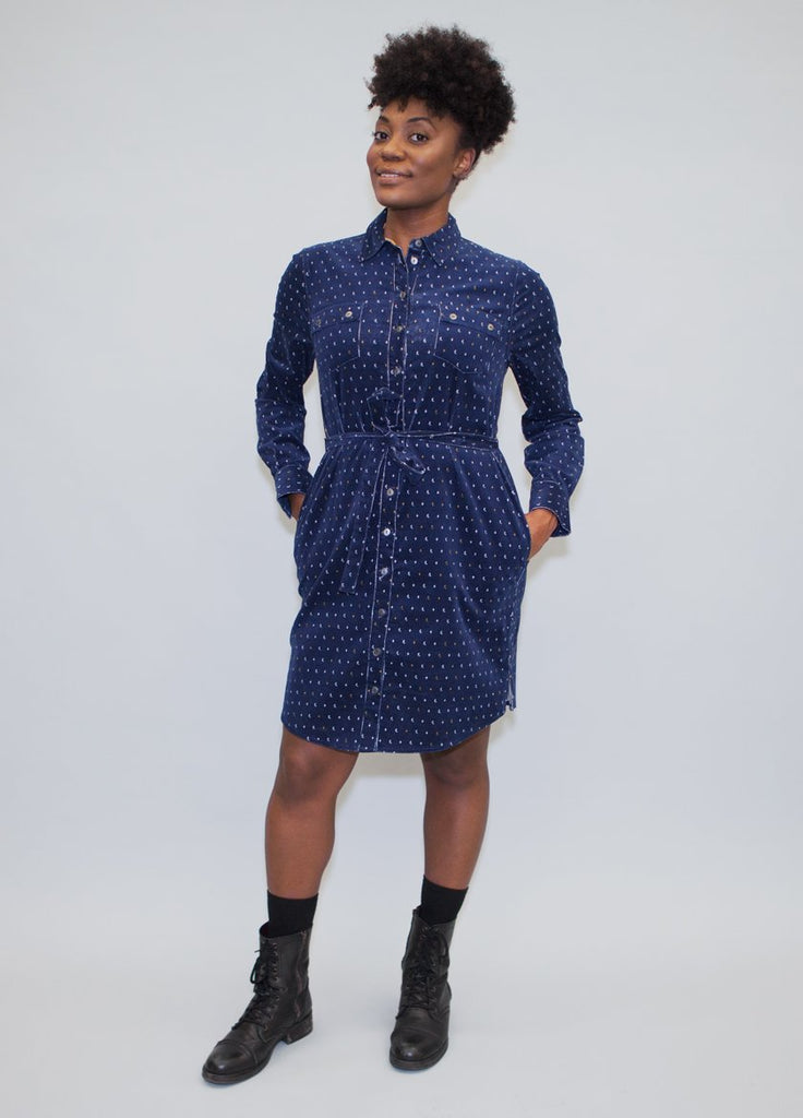 CORDUROY CEDAR SHIRTDRESS ECLIPSE CE