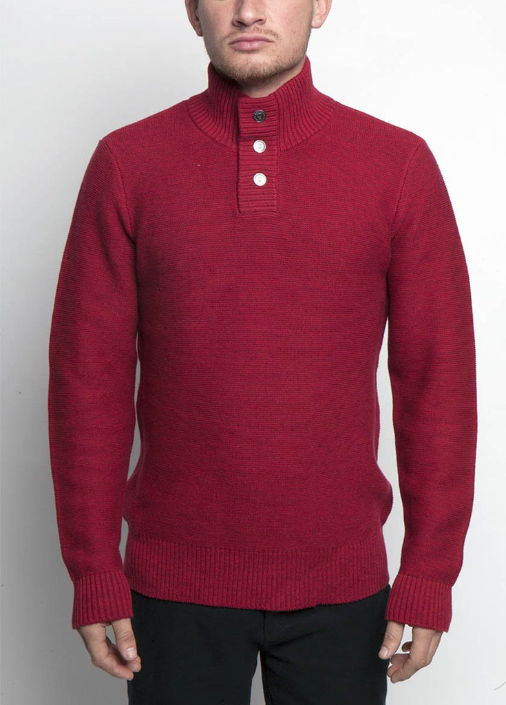 Almanac Mockneck Sweater Biking Red Front Image