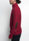 Almanac Mockneck Sweater Biking Red Side Image