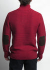 Almanac Mockneck Sweater Biking Red Back Image
