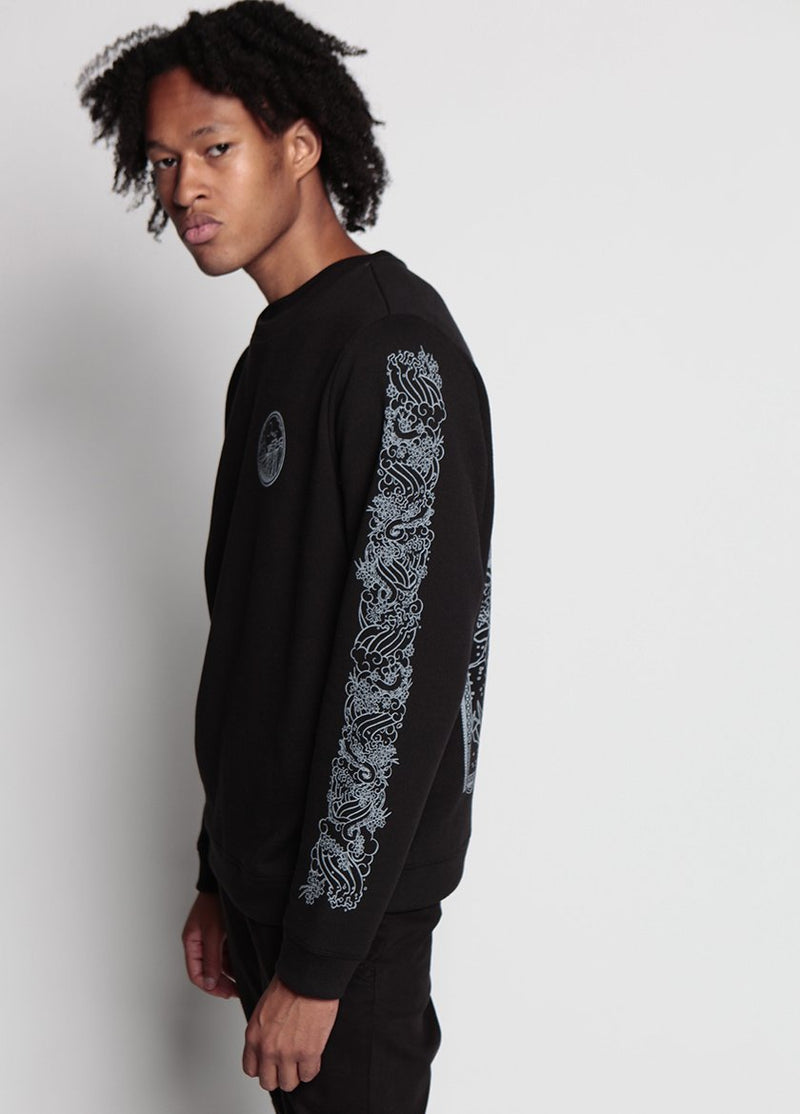BRIDGE MONSTER FLEECE BLACK