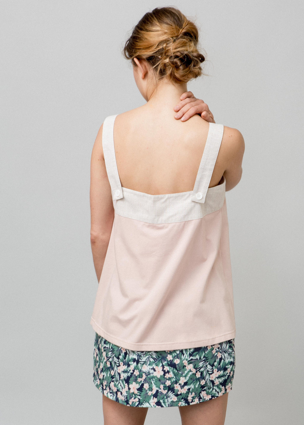 SANTORINI TANK BROWN STRI