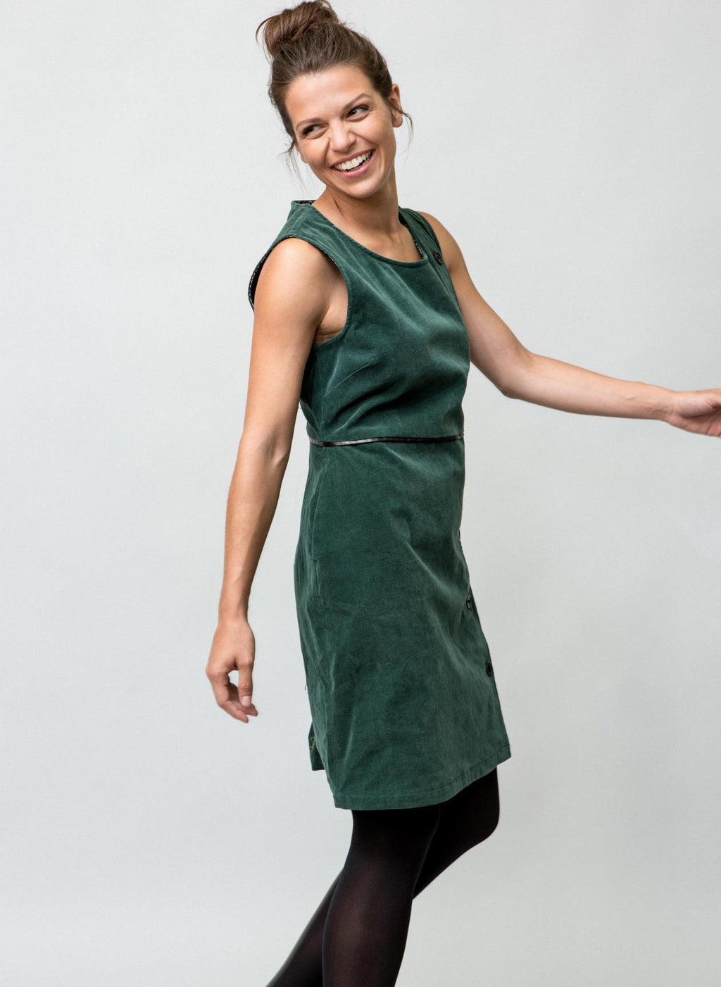 JOSIE PINAFORE DRESS GREENER
