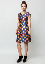 MILLICENT DRESS FLORAL NEON BLACK