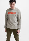 PENSIVE MAN IN SMOKE CREW NECK SWEATSHIRT