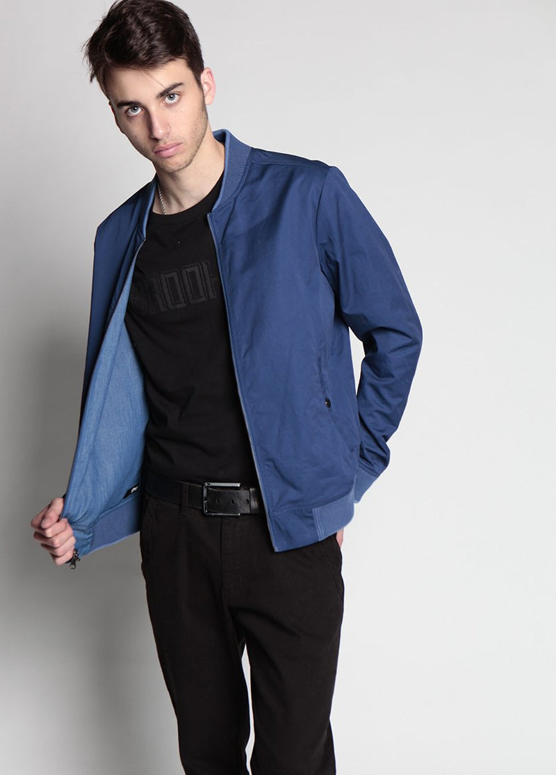 HURON REVERSIBLE BOMBER NAVY M - BROOKLYN INDUSTRIES