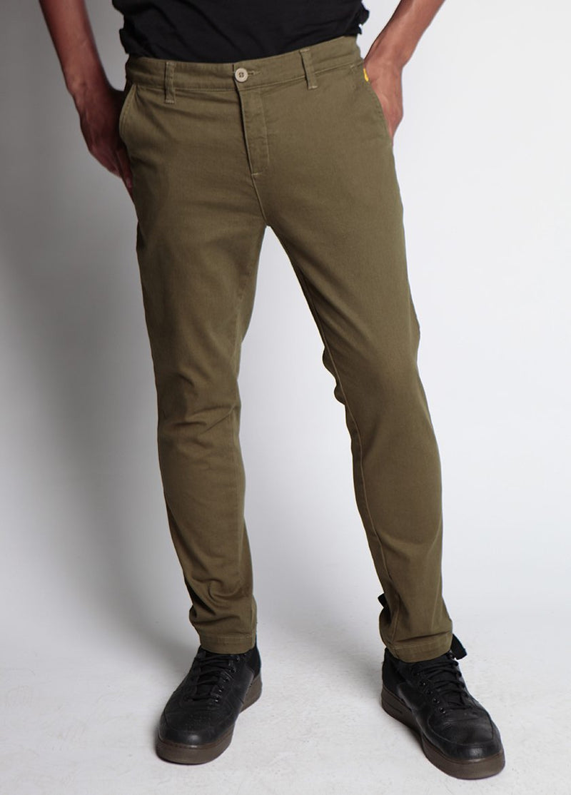 LIVINGSTON PANT DARK OLIVE M - BROOKLYN INDUSTRIES