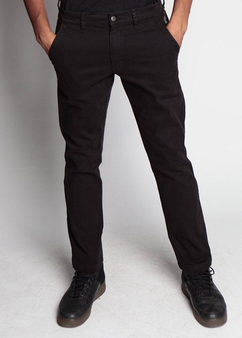 LIVINGSTON PANT JET BLACK M - BROOKLYN INDUSTRIES