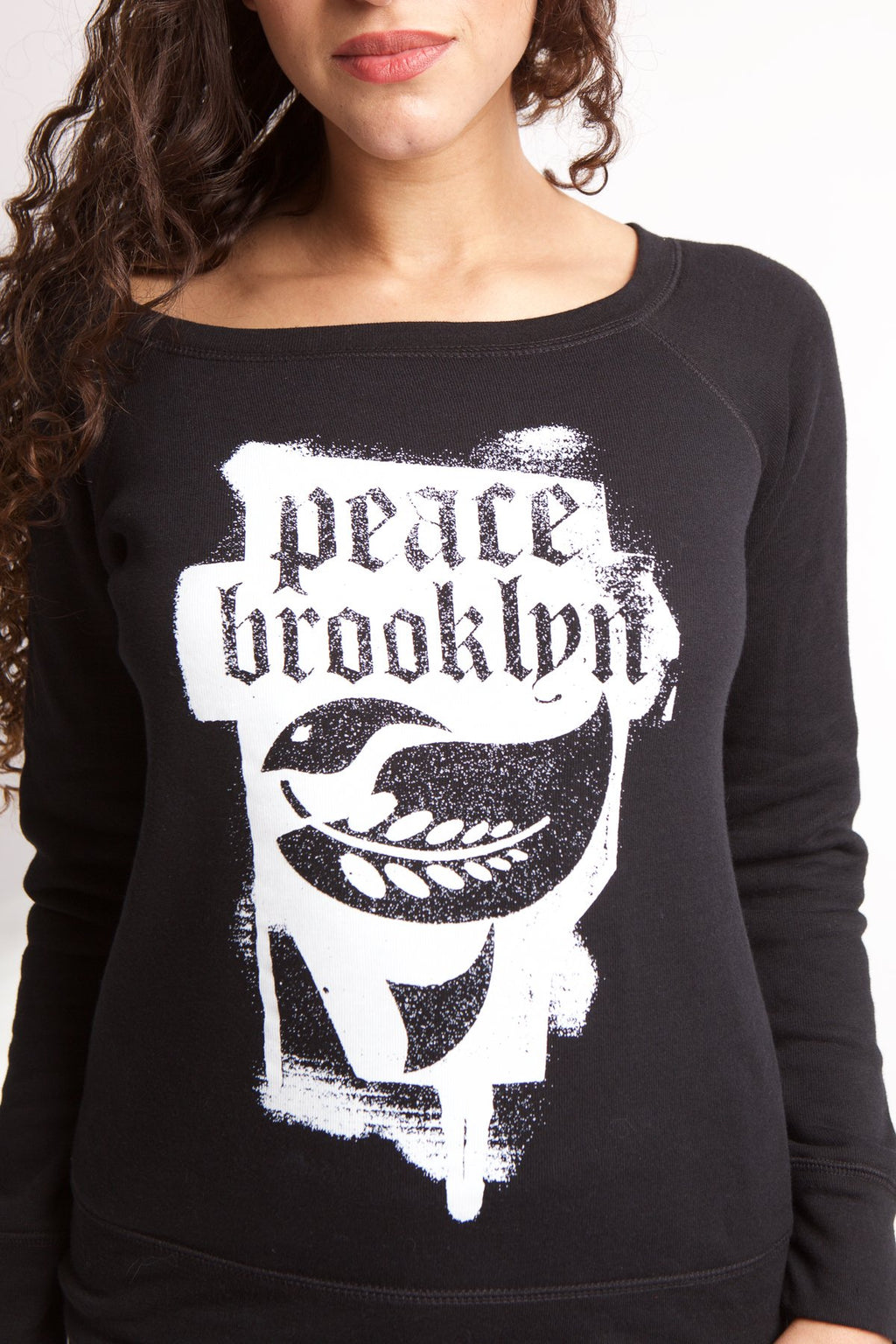 PEACE FLEECE W BLACK TRI