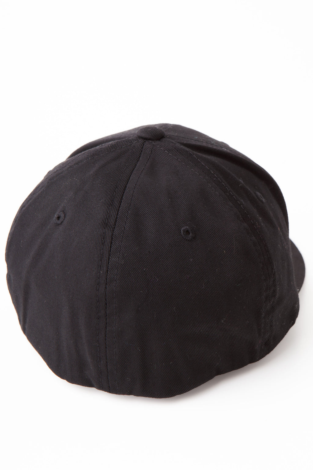 Back of baseball cap showing rounded edge with no detail.