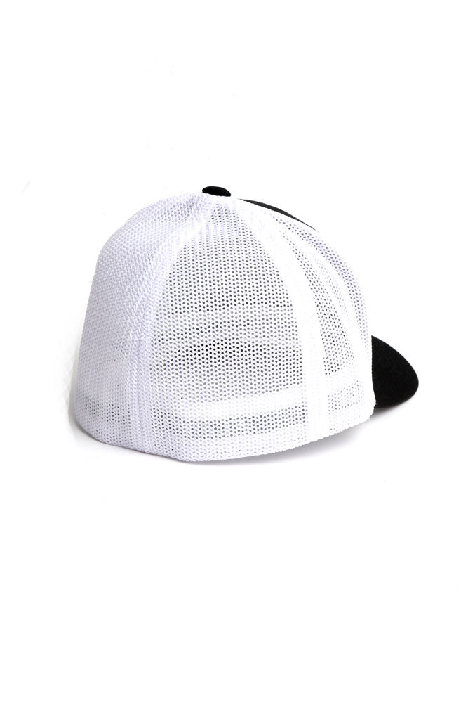 278 TRUCKER CAP BLACK/WHITE