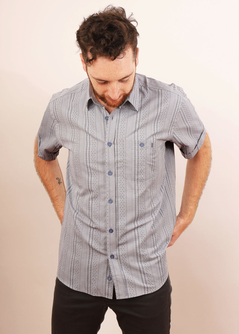 GRADO JAQUARD SHORT SLEEVE SHIRT M