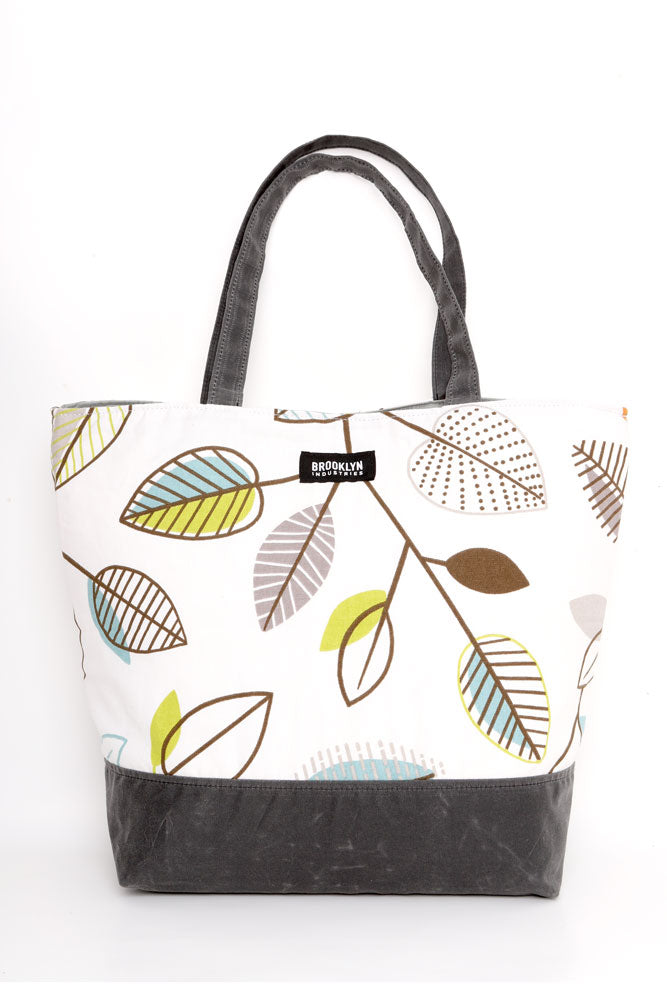 MARCELLE CANVAS TOTE LEAF