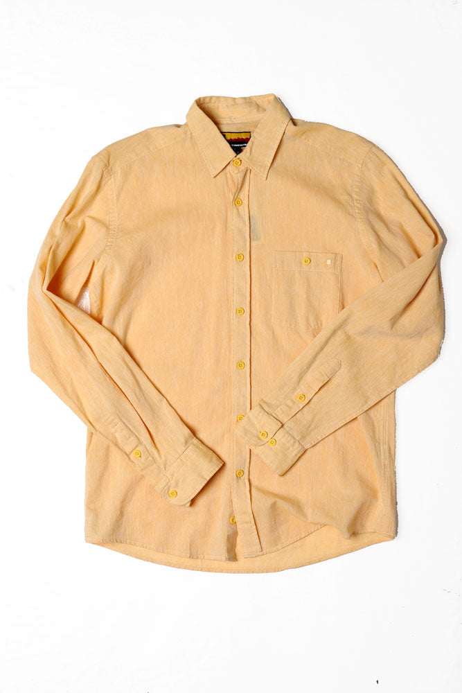 LONG SLEEVE WOVEN LINEN M - BROOKLYN INDUSTRIES