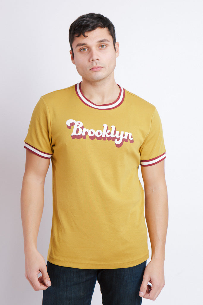 RADICAL RIB SHIRT GOLD M - BROOKLYN INDUSTRIES