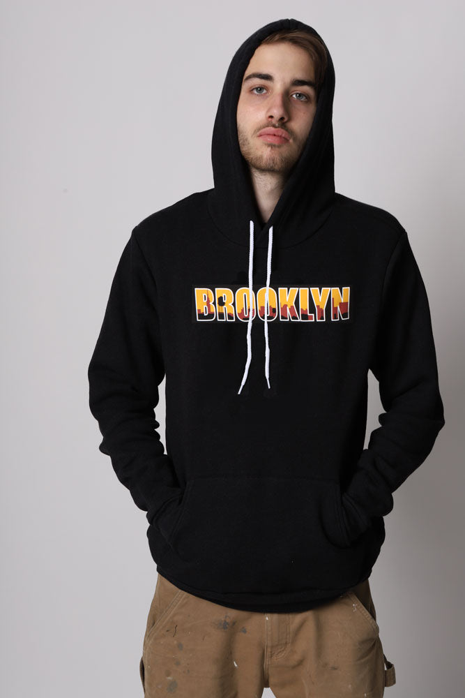 BROOKLYN OUTLINE HOODIE M - BROOKLYN INDUSTRIES