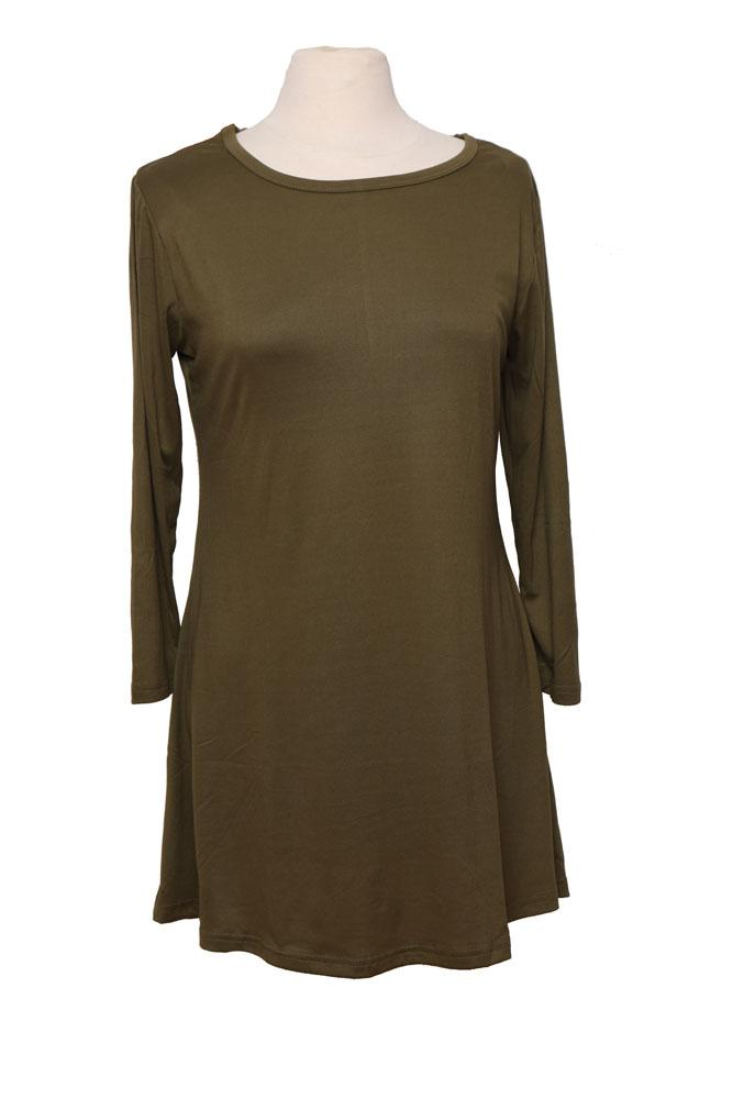 olive tunic a line dress on form