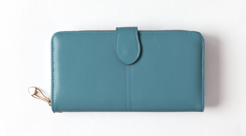 Light Blue tri-fold wallet